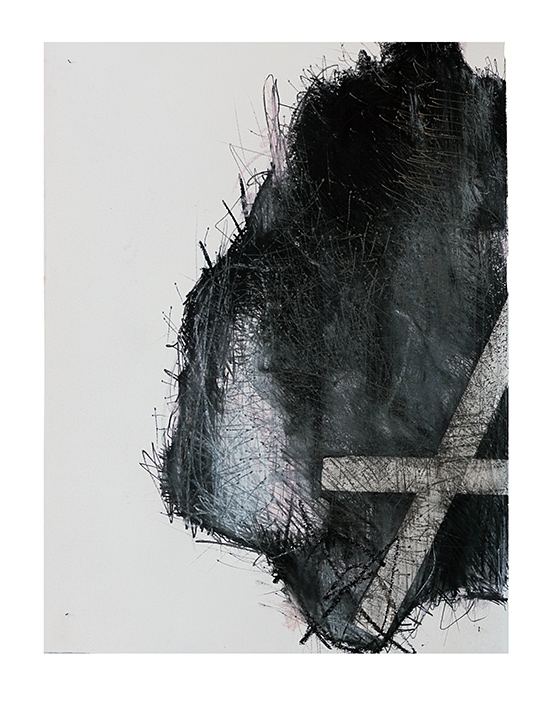 borders on paper, charcoal, pastel , tape  60 x 70 on coton paper