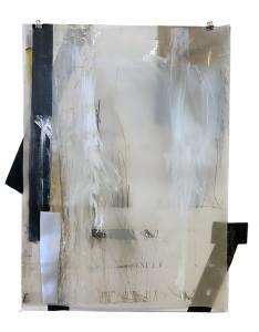 grens1 papier, tape photo, pastel on paper 50x 65