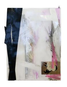 grens2 papier, tape, photo, pastel on paper 50x 65