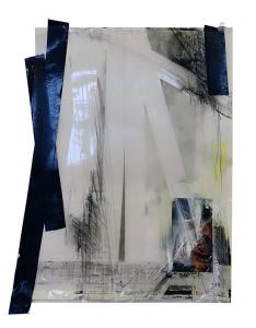 grens4 papier, tape, photo, pastel on paper 50x 65